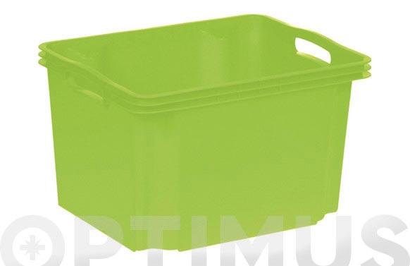 Caja sin tapa multibox mediana 13,5l verde