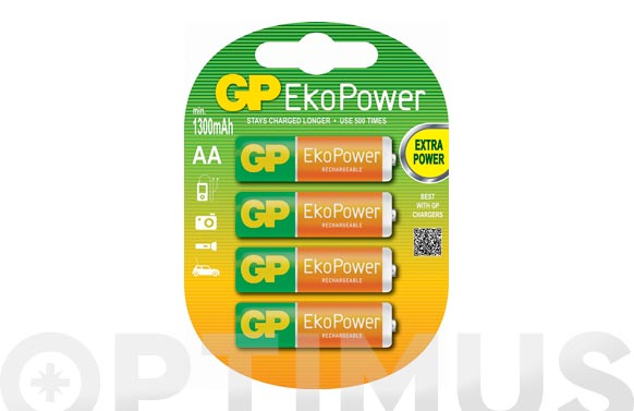 Pila recargable gp eko power aa-bl4
