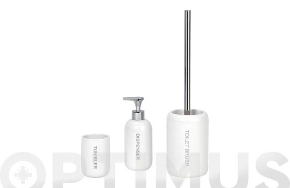 Dosificador jabon ceramico dispenser blanco