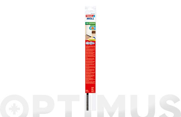 Burlete bajo puerta pvc con cepillo adhesivo 1 m x 43 mm blanco tesamoll