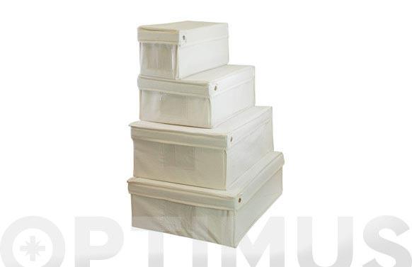 Caja plegable lona crudo 45x34x36cm