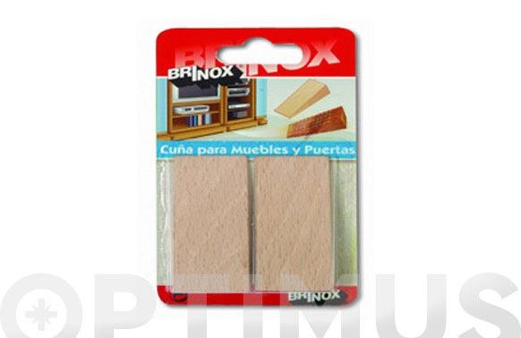 Cuña madera haya natural 2 uds 66 x 30 x 15 mm