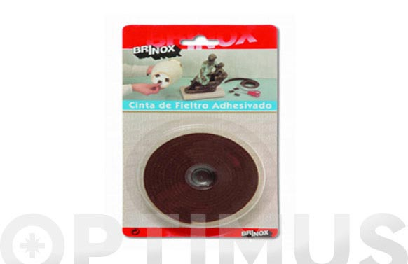 Deslizador de fieltro adhesivo marron 25 mmx200 cm rollo