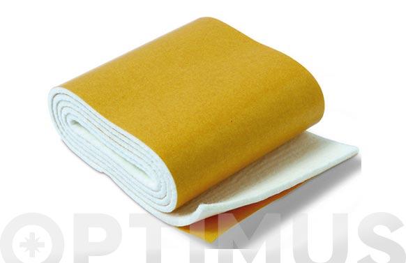 Deslizador de fieltro adhesivo blanco 85 mmx100 cm rollo