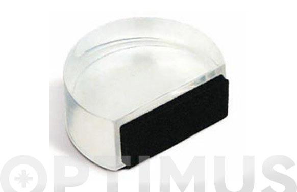 Tope metracrilato plano adhesivo transparente