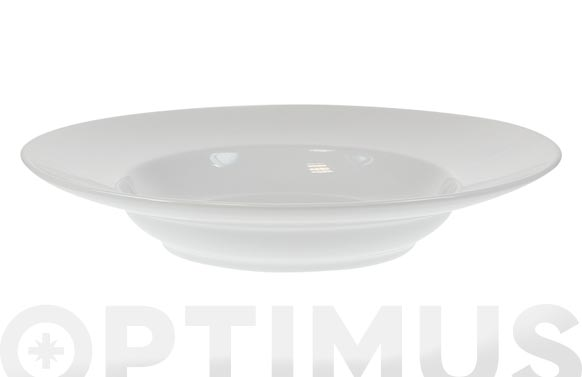 Plato porcelana blanca coupe pasta 30 cm