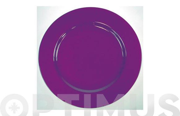 Plato llano 31 porcelana decorado lila