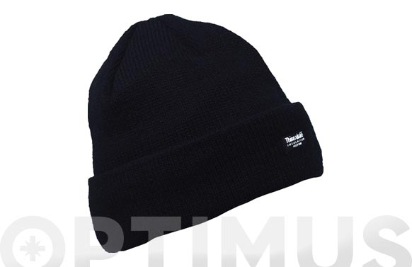 Gorro acrilico-thinsulate negro talla unica