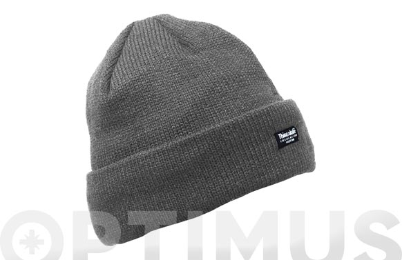 Gorro acrilico-thinsulate gris talla unica