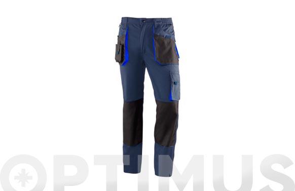 Pantalon poliester algodon top range bicolor t m azul/negro