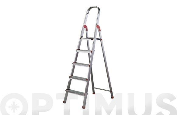 Escalera aluminio peldaño ancho norma 220 4 peldaños