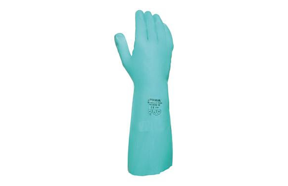 Guante nitrilo verde flocado 0.8x330 t 7