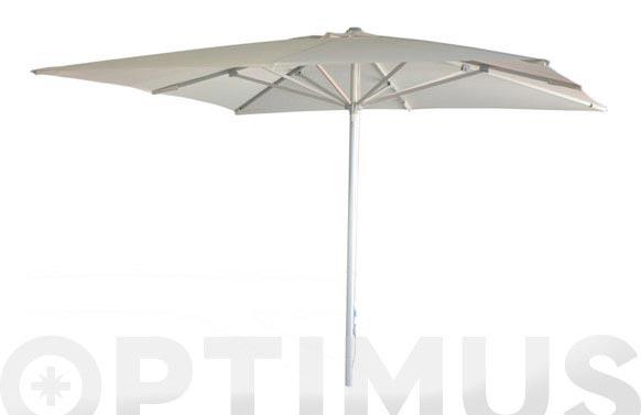 Parasol aluminio blanco 3 x 2 m tubo 48 mm