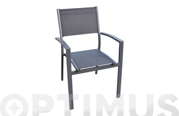 Sillon aluminio/textilene antracita/negro nuit