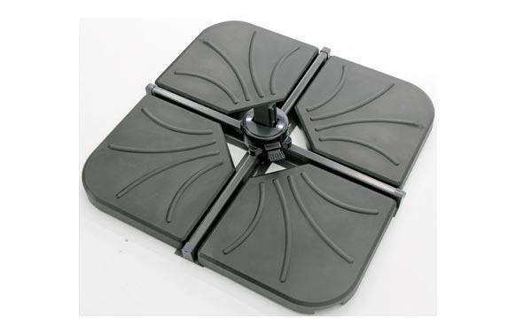 Pie parasol excentrico venus 1/4 25kg 3544-antracita