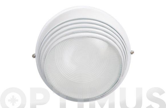 Aplique redondo 60w ip54 blanco