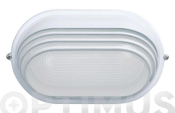 Aplique oval 60w ip54 blanco