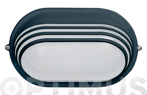 Aplique oval 60w ip54 negro