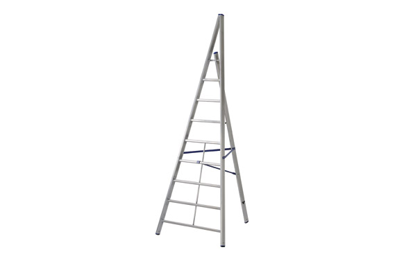 Escalera triangular aluminio trittika 10 peldaños