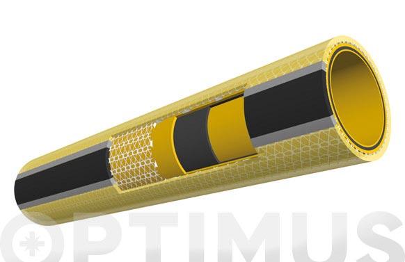 Manguera tricotada sunny smt con accesorios ø 15 mm x 25 m