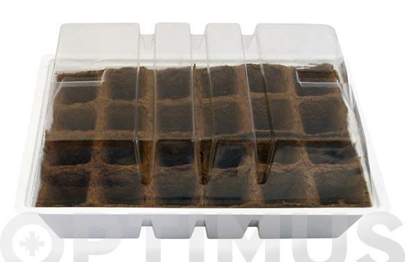 Turba maceta de 6x6cm para semillero pack 24 und