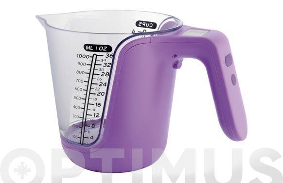 Jarra medidora/balanza 3kg lila