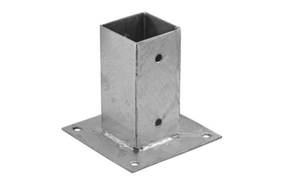 Pletina cuadrada base plana 71x150x150mm