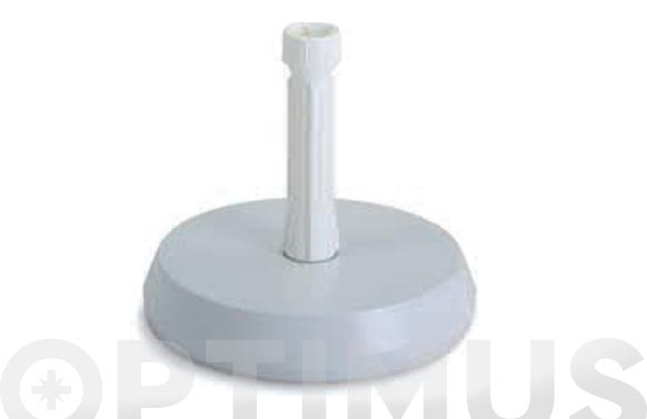 Pie parasol cemento plastificado 15 kg ø 38 mm