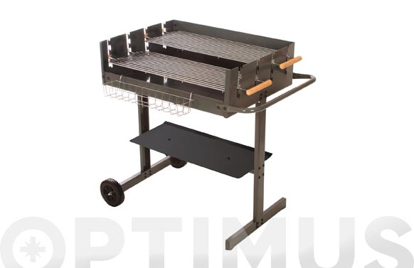 Barbacoa carbon plus 75 cm x 57 cm x h 79/94 cm