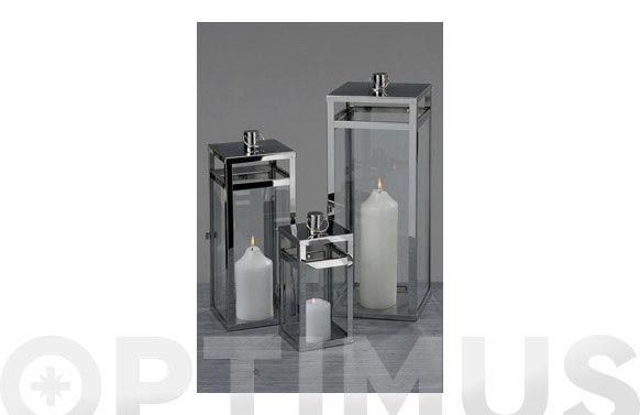 Farol metal 24/38/43cm set 3 faroles