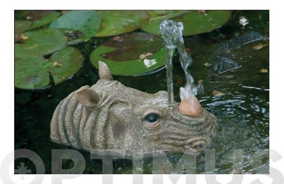 Gargola para fuente estanque rinoceronte
