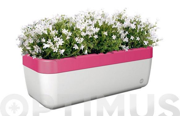 Jardinera autoriego mybox 50cm base bco