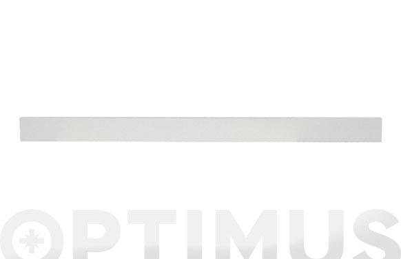 Lama transversal valla aquiles 4 uds 1495x30x100mm blanca