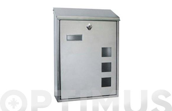 Buzon exterior inox lisboa-6 vertical