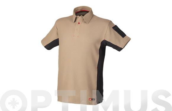 Polo stretch beige t. m
