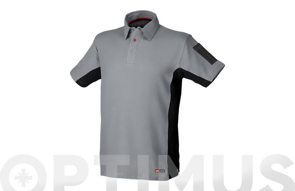 Polo stretch gris t. m