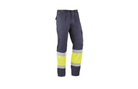 Pantalon alta visibilidad kreta 235 grs t m azul