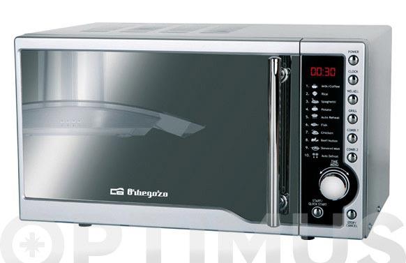 Horno microondas con grill inox mig-1811 espejo 17 l