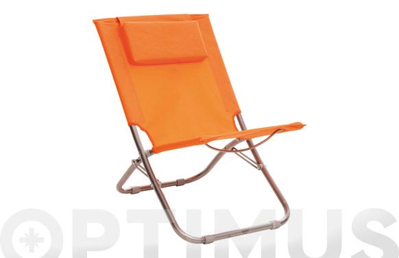 Silla playa plegable naranja 47 x 52 x 60 sf