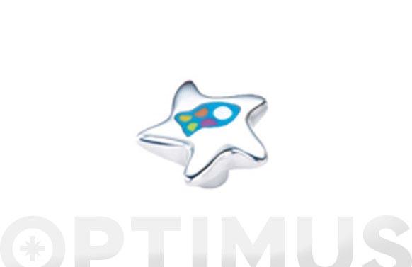 Pomo aluminio resina estamp estrell.pez