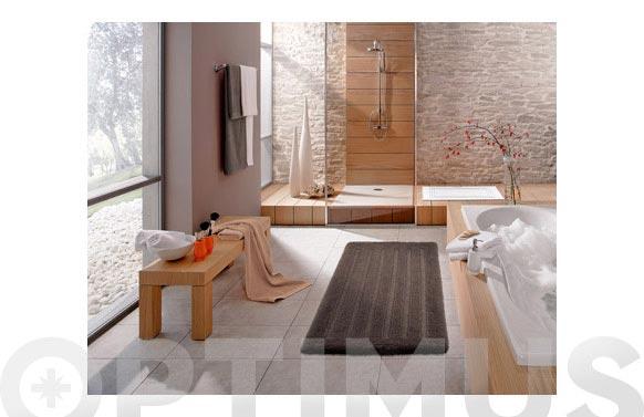 Alfombra baño algodon dakar marron 55 x 65 cm