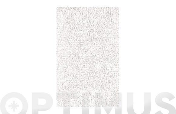 Alfombra baño algodon vintage blanco 60 x 60 cm