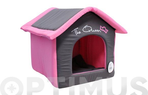 Casa de perro desmontable textil 54 cm