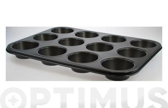 Molde metal muffins 12 cavidades