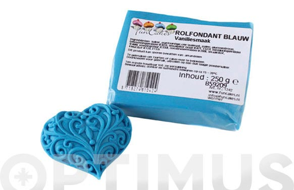 Fondant color 250 gr azul