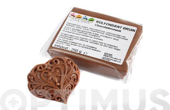 Fondant color 250 gr chocolate