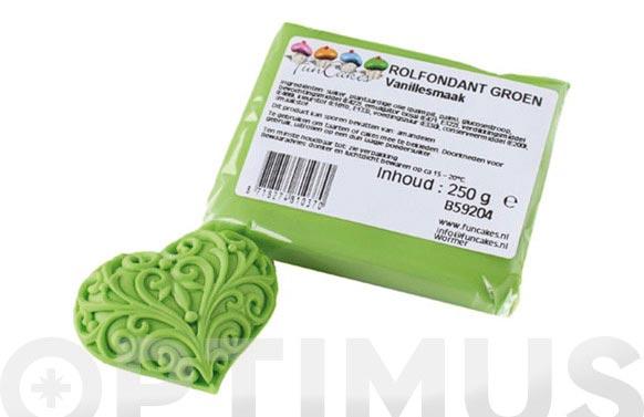 Fondant color 250 gr verde