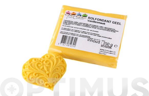 Fondant color 250 gr amarillo