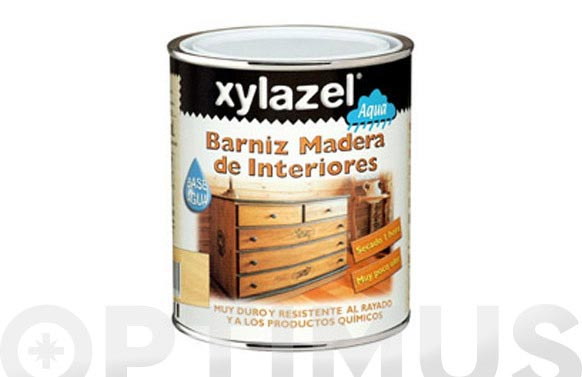 Barniz al agua interior 750 ml incoloro brillante