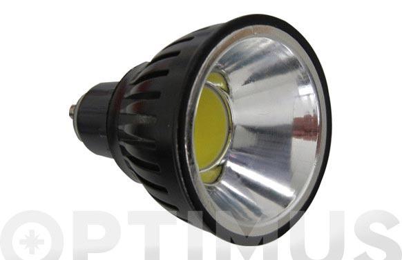 Bombilla led dicroica alum cob-5w-90 gu-10 luz blanca (6000k)